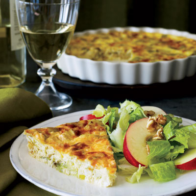 gruyere crustless quiche