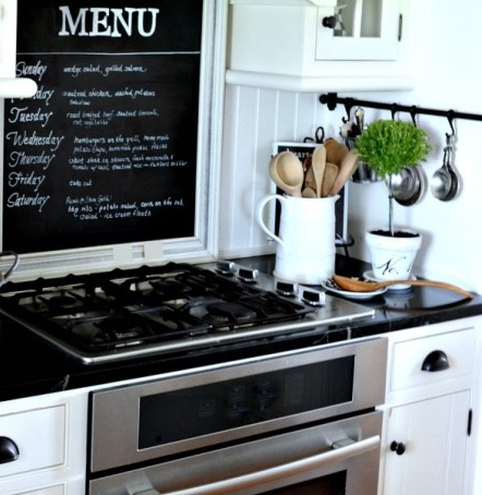 FARMHOUSE-KITCHEN-chalkboard-above-the-cooktop-stonegableblog.com_1