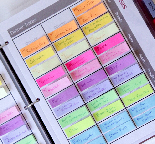 25-Printables-to-Organize-Your-Life-in-2014-color-coded-menu-planner