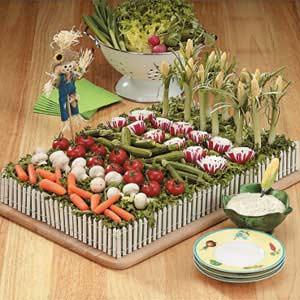 Veggie garden and dip
