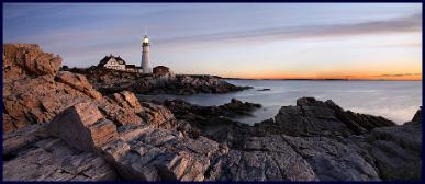 Sunrise At The Portland Head Light, Portland, Maine