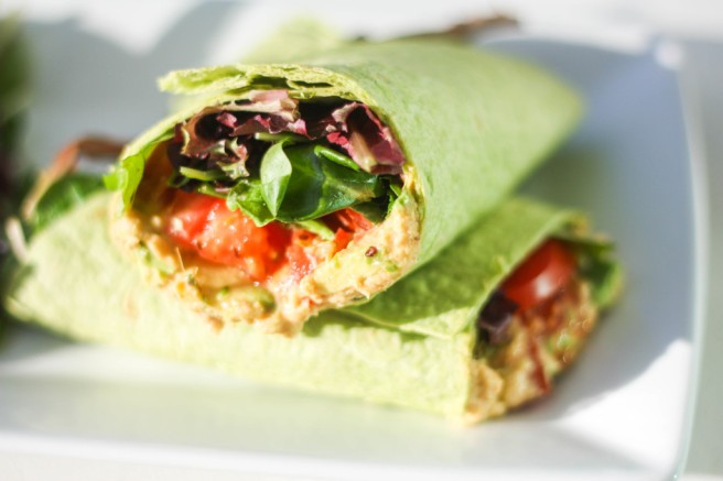 Vegan Hummus Wrap | aheadofthyme.com
