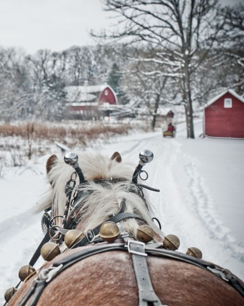 A sleigh ride in Iowa.